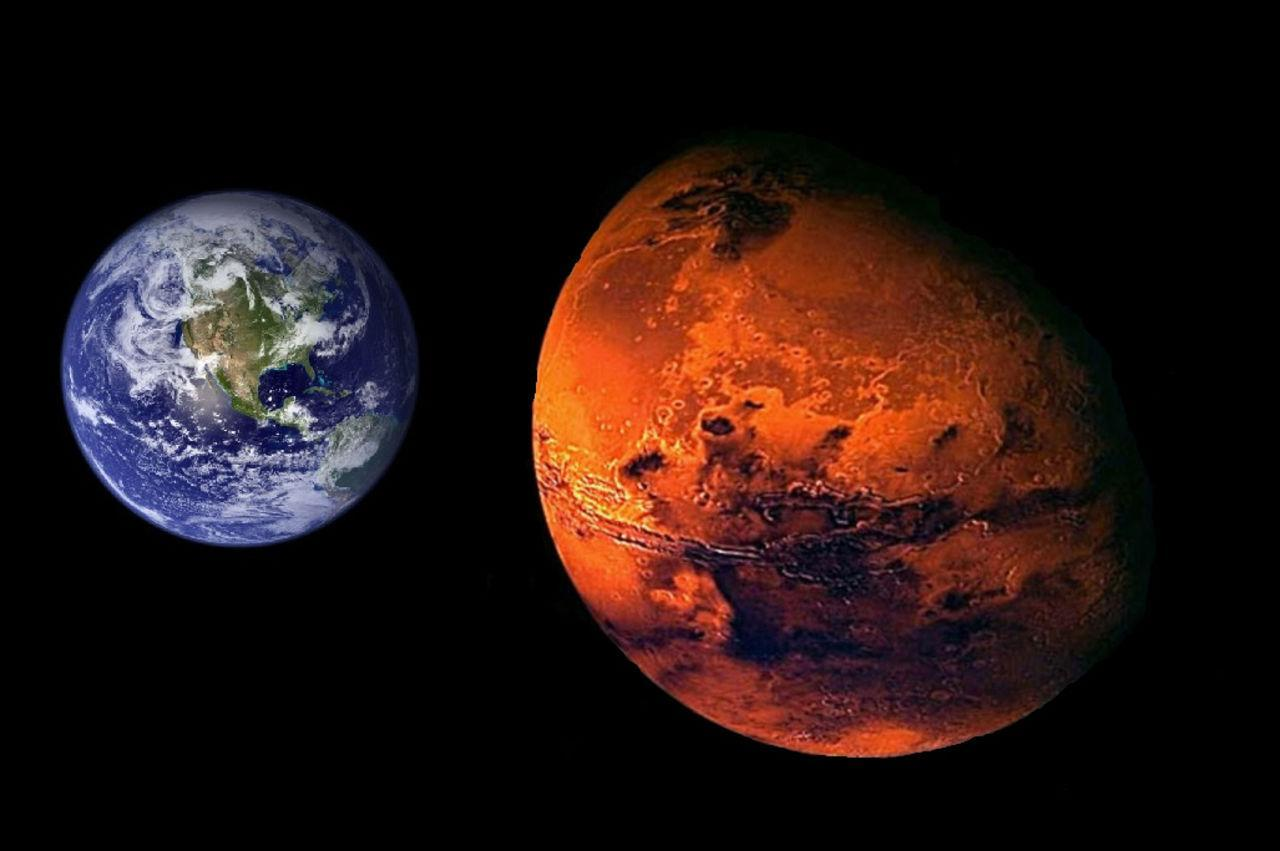 mars compared to earth size - HD1200×798