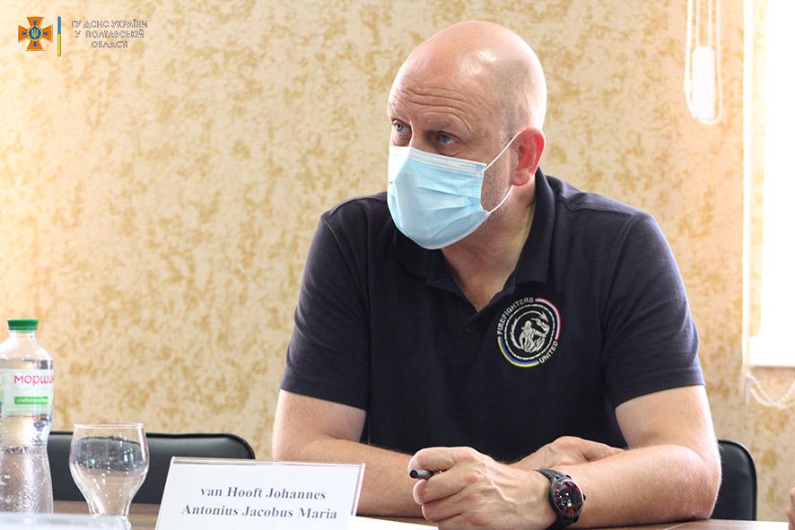 До полтавських рятувальників завітали представники Фонду Об'єднання пожежних Нідерландів